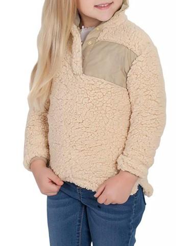 Camel Sherpa Pullover for Little Girl