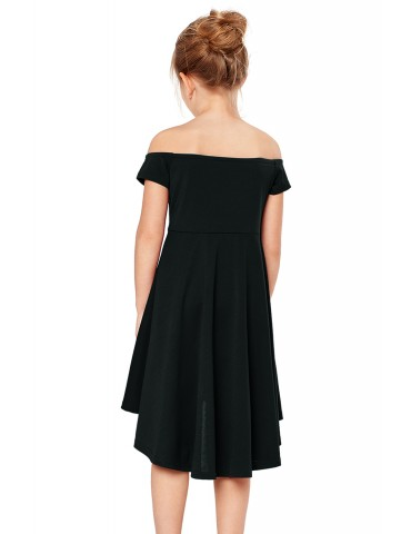 Black All The Rage Skater Dress for Little Girls
