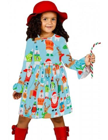 Holiday Friend Christmas Little Girl Dress