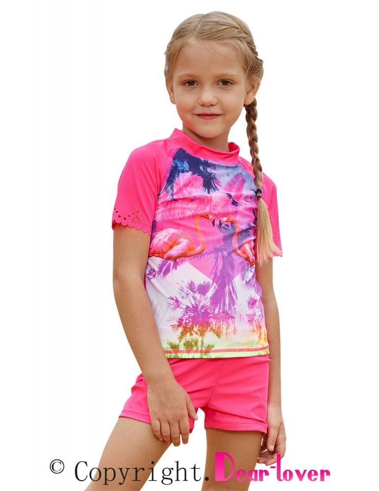 Girls Beach Day Comfortable Shirt and Short Set