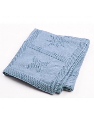 Sapphire Butterfly Heart Star Baby Blanket