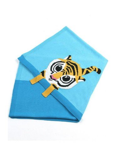 Sapphire Tiger Baby Receiving Blanket