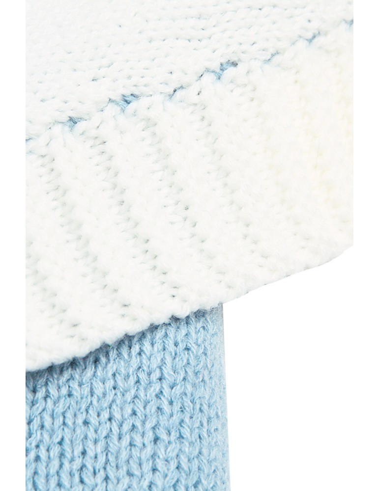 Azure Knit Baby Receiving Blanket