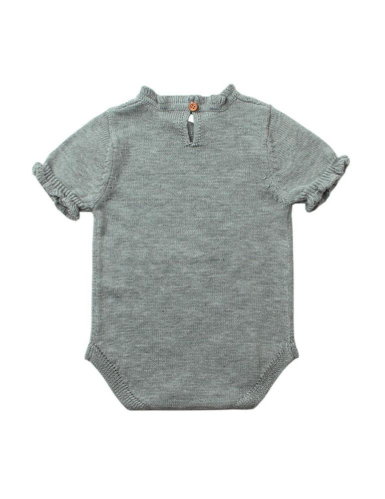 Grey Vintage Knit Short Sleeve Toddler Onesies
